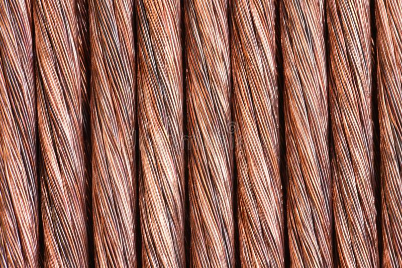 Koppartråd som industriell bakgrund royaltyfri foto