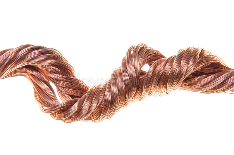 Koppartrådar royaltyfri foto