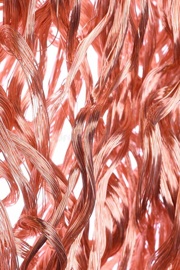 Koppartrådar arkivbild