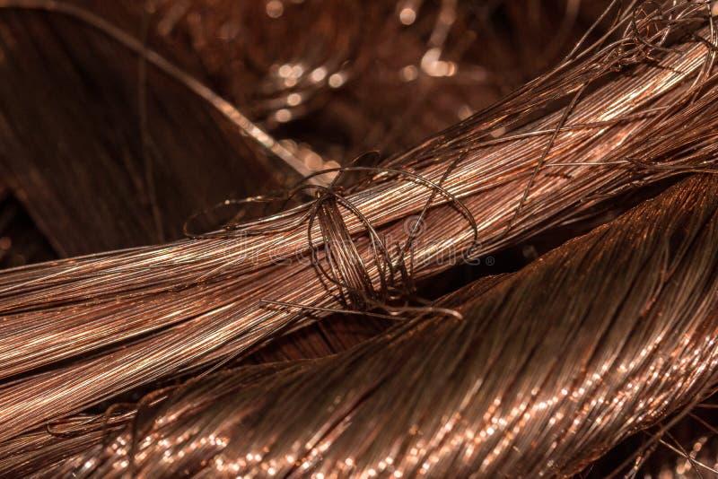 Koppartrådnärbild royaltyfri fotografi