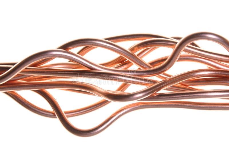 Koppartrådwave royaltyfri bild