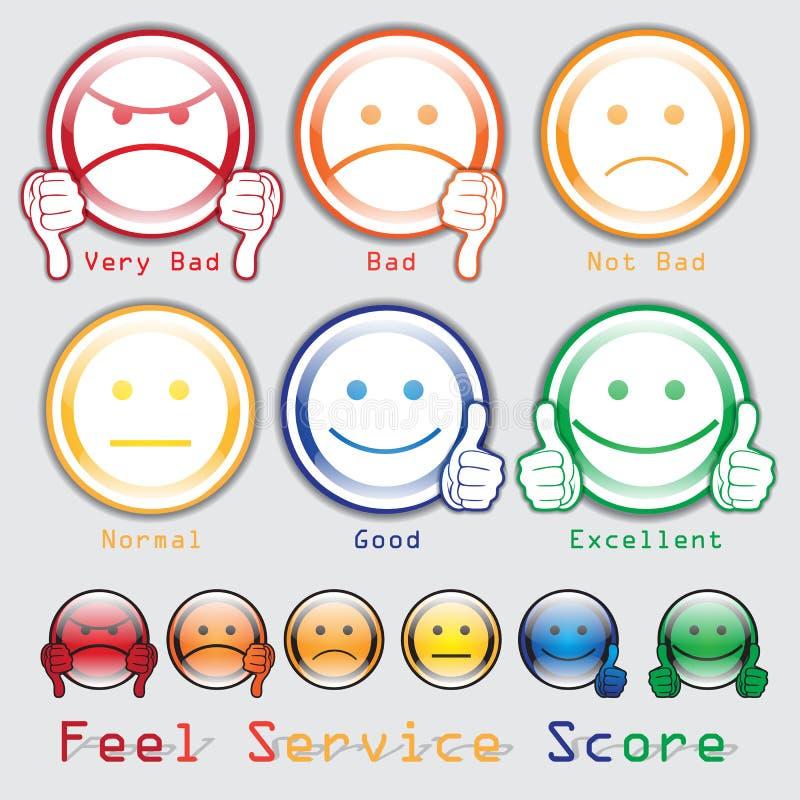 Koppel Score terug Voel de Scoredienst vector illustratie