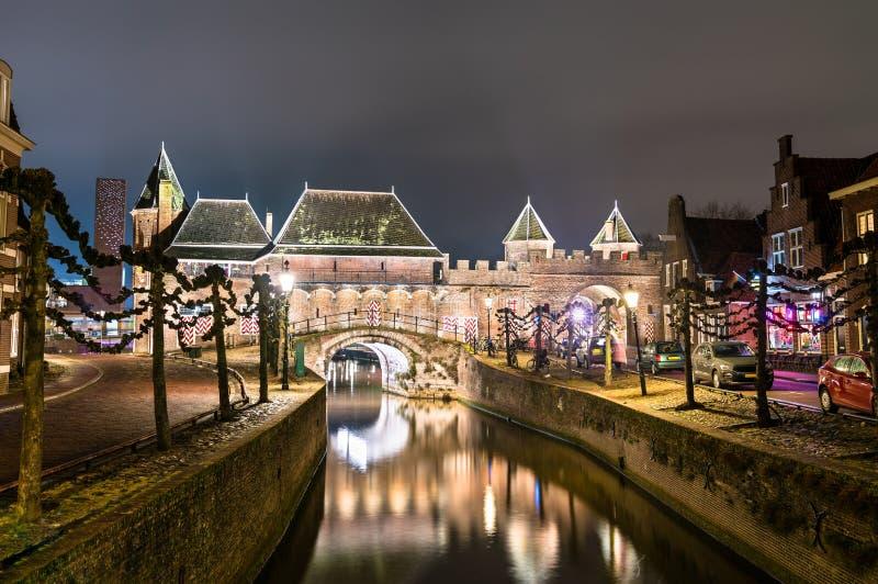 Koppelpoort, ворота в Амерсфорте, Нидерланд стоковое изображение