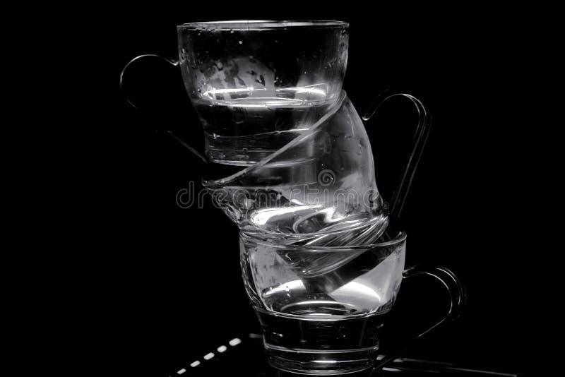 Koppen 2 van de espresso demitasse stock afbeelding