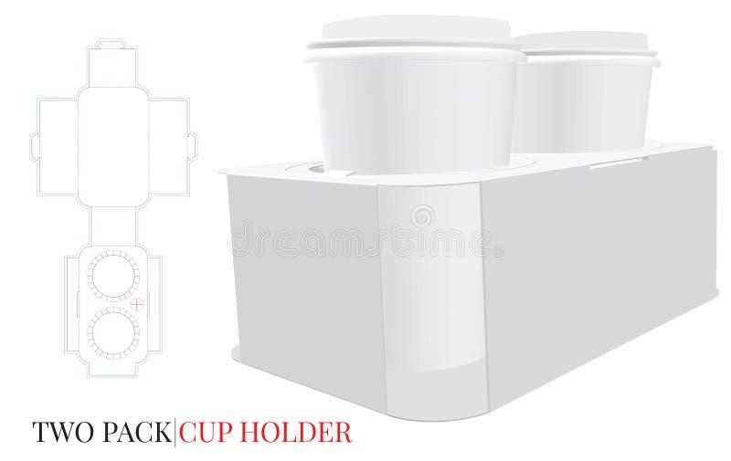 Kopphållare, illustration för kaffekopphållare stock illustrationer