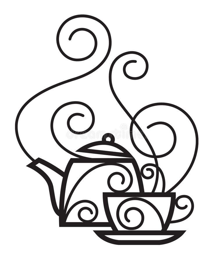 koppkettle royaltyfri illustrationer