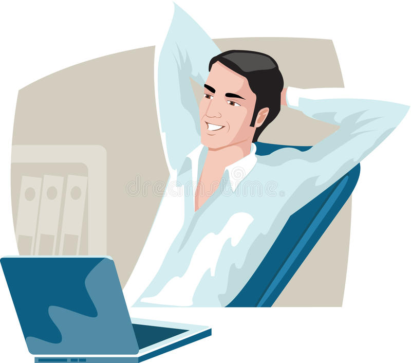 koppla av för affärsman stock illustrationer