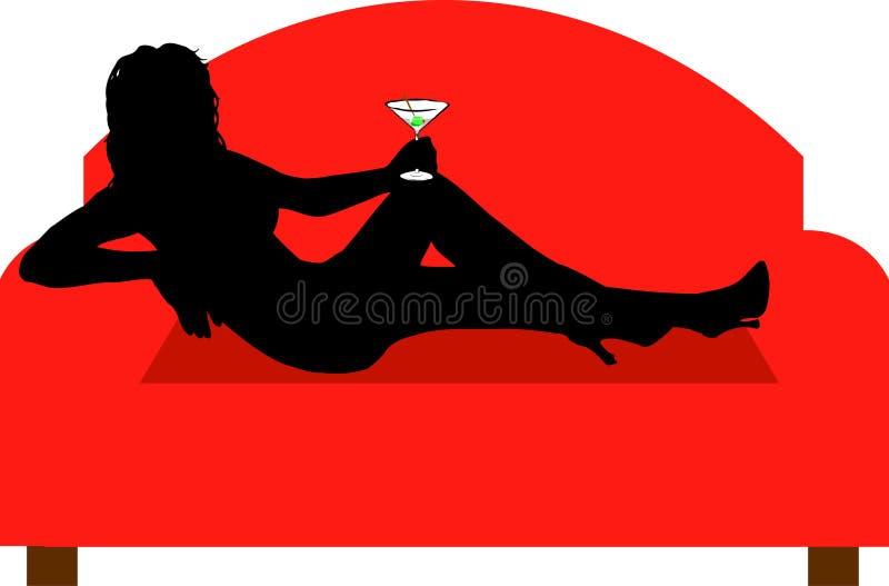 koppla av för drink royaltyfri illustrationer