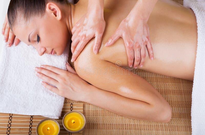 koppla av för massage royaltyfria foton