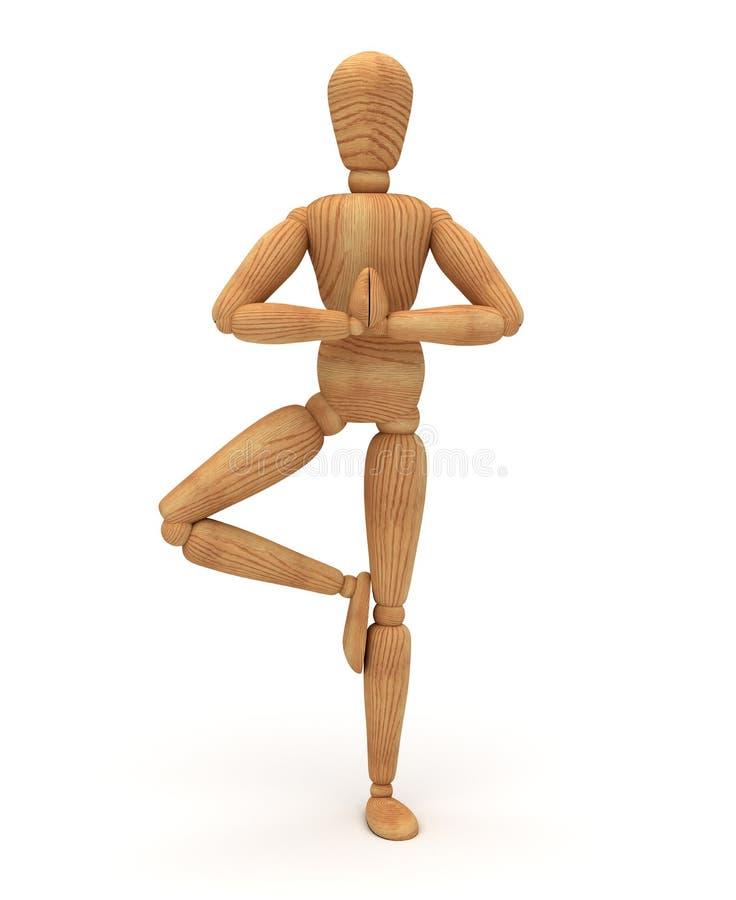 Koppla av med meditation stock illustrationer