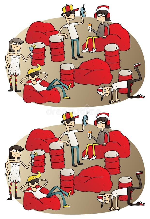 Koppla av skillnadvisuellt hjälpmedelleken stock illustrationer