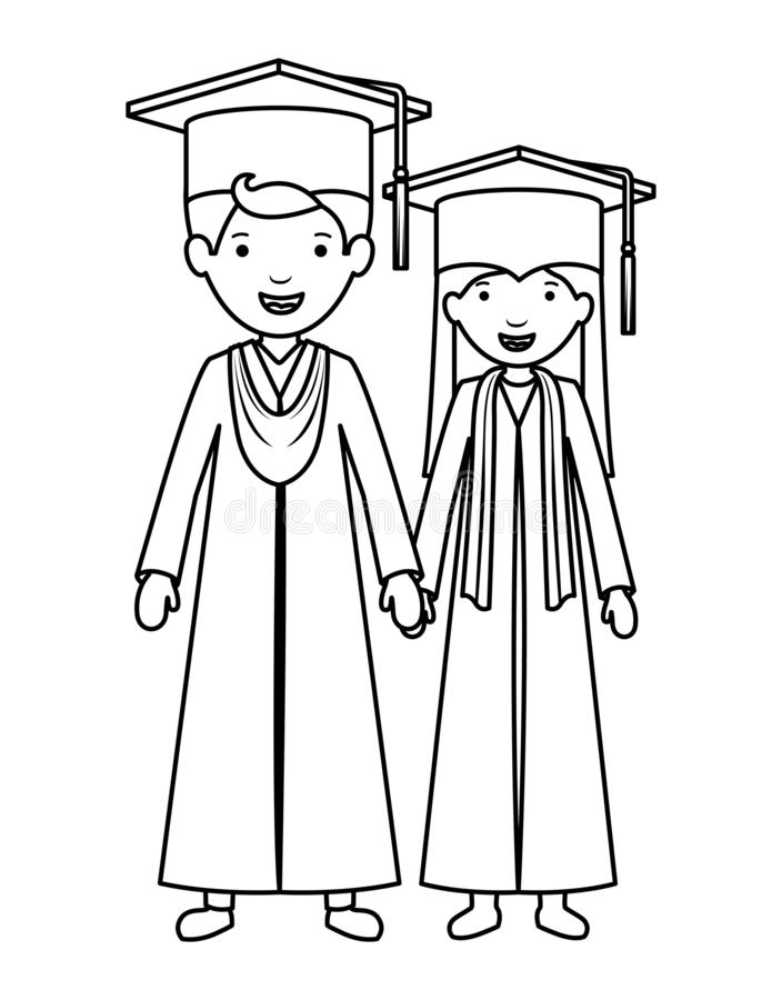 Koppla ihop kandidater med hattar stock illustrationer