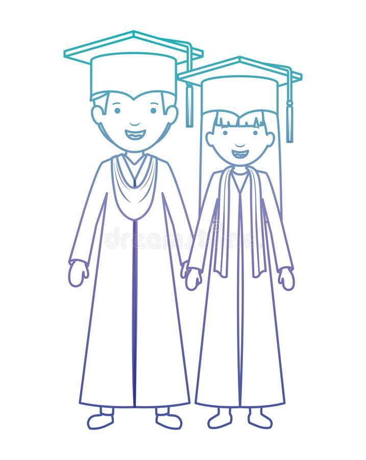 Koppla ihop kandidater med hattar vektor illustrationer