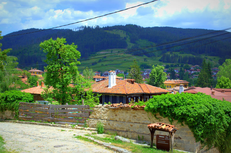 Koprivshtitsa town landscape royalty free stock photography