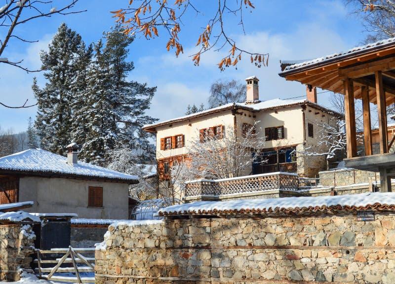 Koprivstitsa en invierno foto de archivo libre de regalías