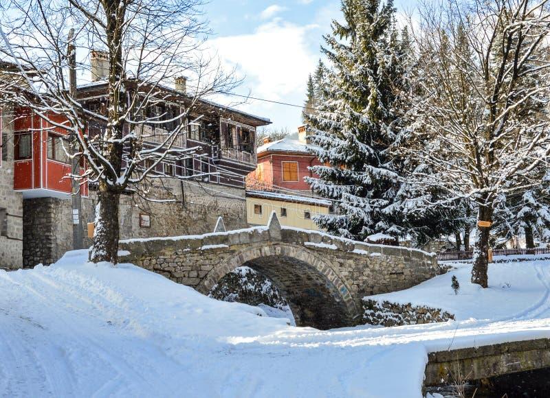 Koprivstitsa im Winter stockfoto
