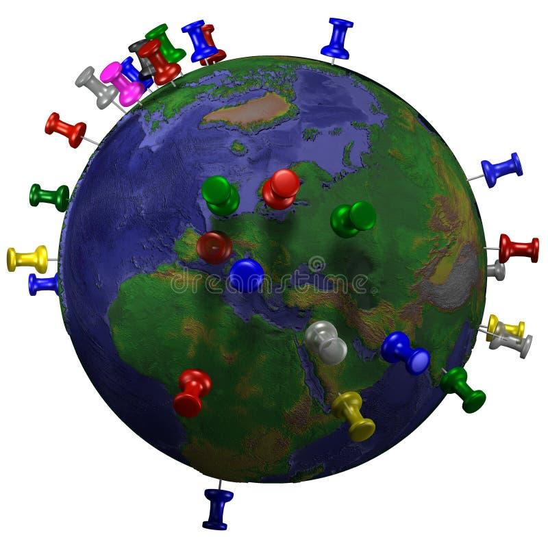 Kopspijkers in de Kaart van de Aarde - Oostelijk H