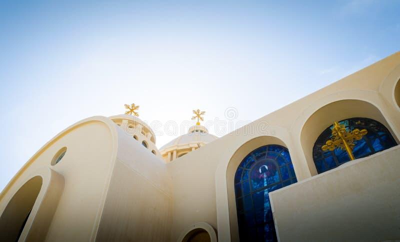Koptisch Christian Church in Sharm el Sheikh royalty-vrije stock afbeelding
