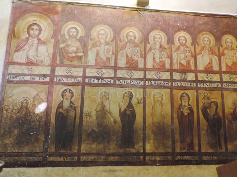 Koptisch Orthodox Klooster stock afbeelding