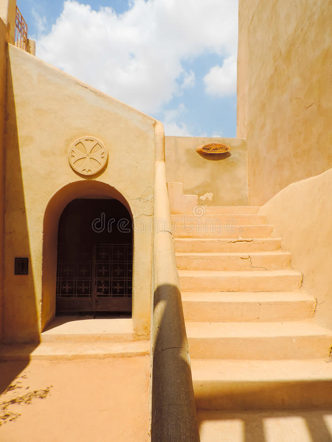 Koptisch Orthodox Klooster stock fotografie