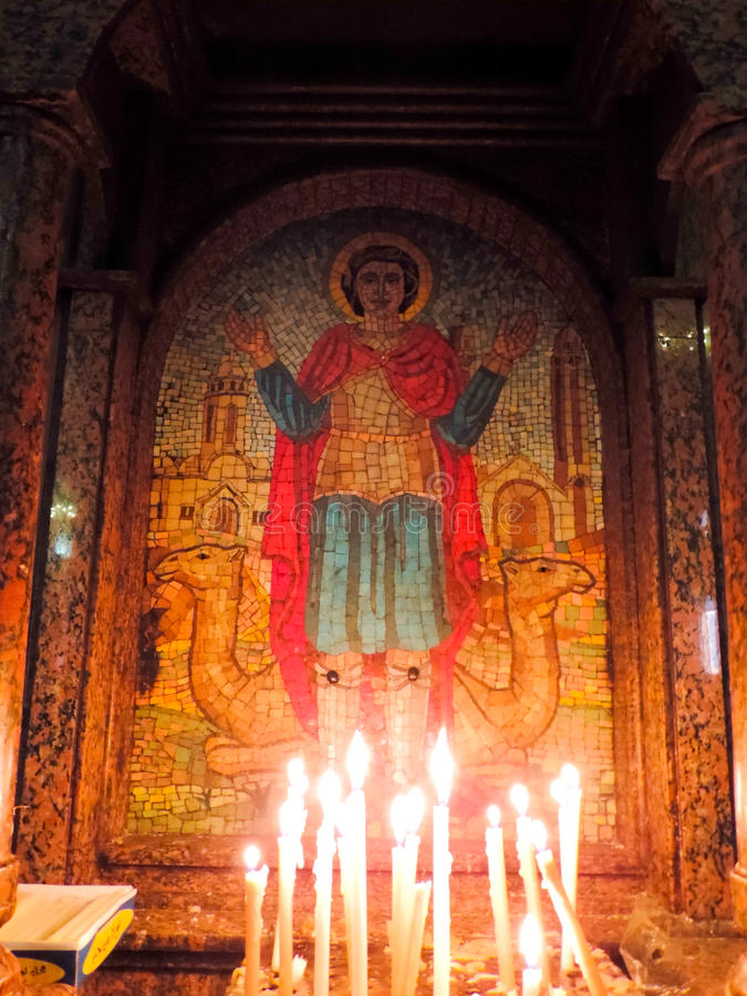 Koptisch Orthodox Klooster royalty-vrije stock foto's