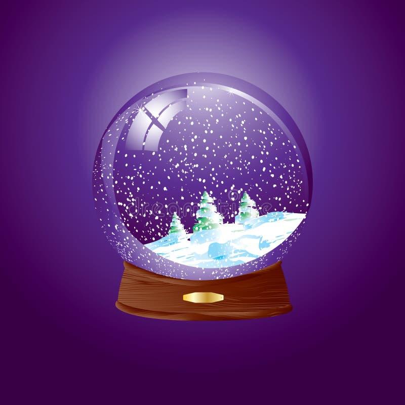 kopuła śnieg ilustracja wektor