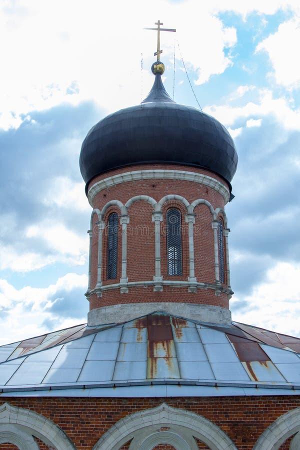 Kopuła antyczny rosyjski kościół prawosławny zdjęcie stock