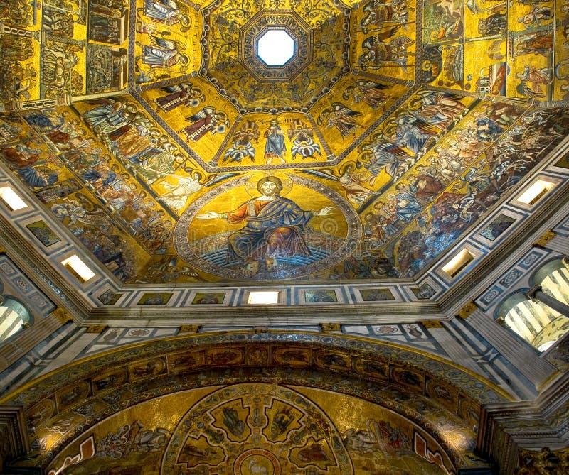 Kopuła Baptistery Di San Giovanni. Florencja, Włochy obrazy royalty free