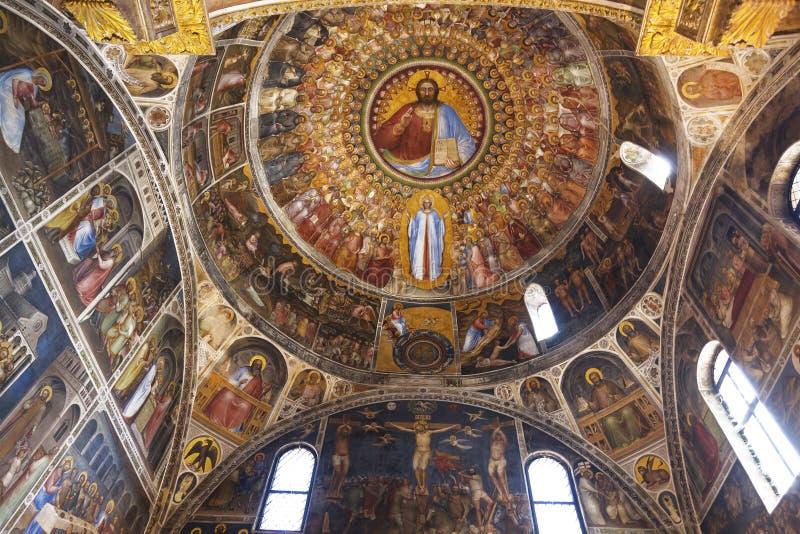 Kopuła baptistery w Padua obraz royalty free