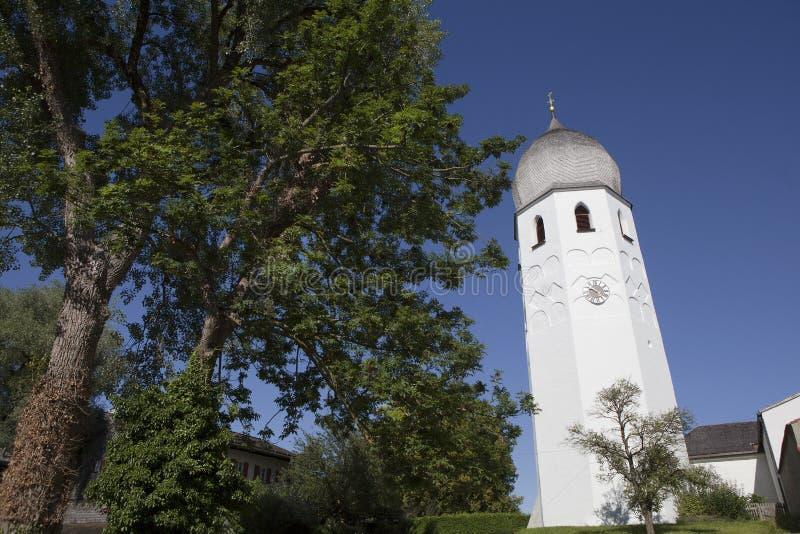 Kopuła Benedyktyński monaster Frauenchiemsee w Bavaria, Niemcy zdjęcia stock