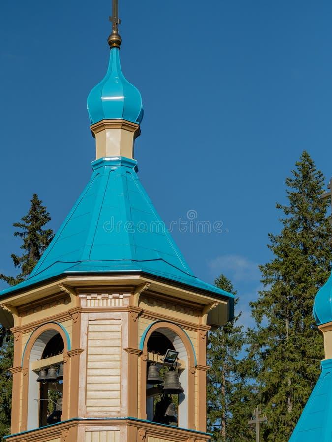 Kopuła dzwonkowy wierza w Valaam monasterze fotografia royalty free