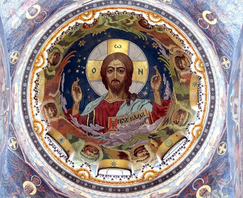 Kopuła kościół wybawiciel na Rozlewającej krwi zdjęcia stock