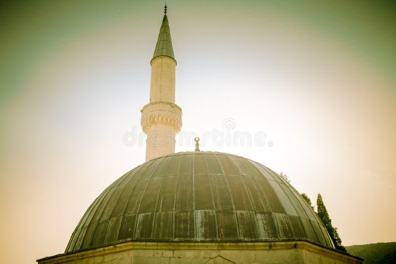 Kopuła meczet i munar obraz royalty free