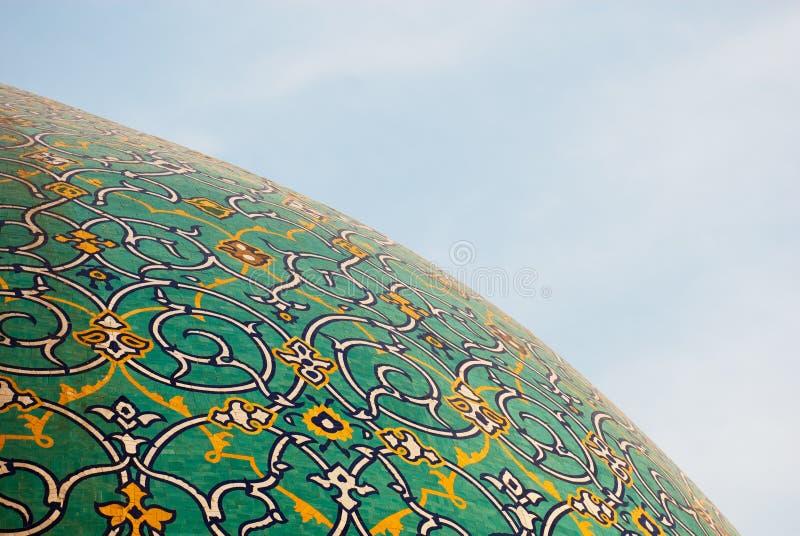 Kopuła meczet nad niebieskim niebem, Isfahan, Iran fotografia stock