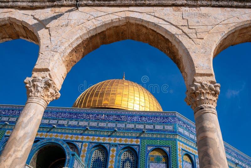 Kopuła Rockowa Świątynna góra Jerozolima Izrael fotografia royalty free