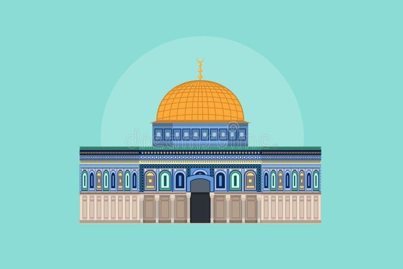 Kopuła Rockowy †'Aksa meczet ilustracji