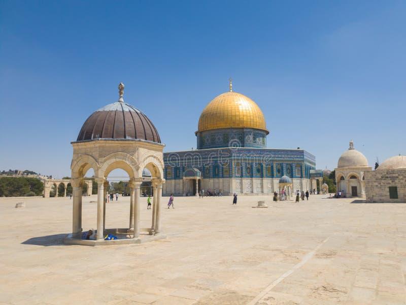 Kopuła Rockowy meczet w Świątynnej górze Jerozolimski Stary miasteczko, Izrael obrazy royalty free