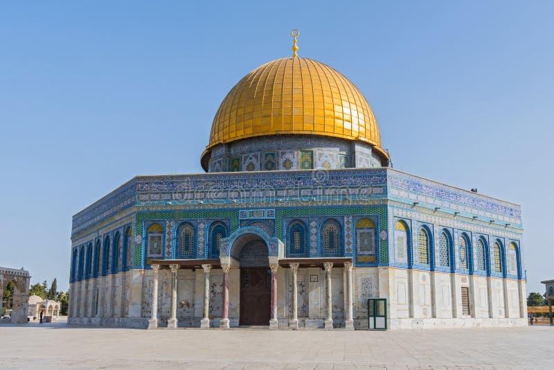 Kopuła skała, Muzułmański święte miejsce na Świątynnej górze, Jerozolima, Izrael obraz stock
