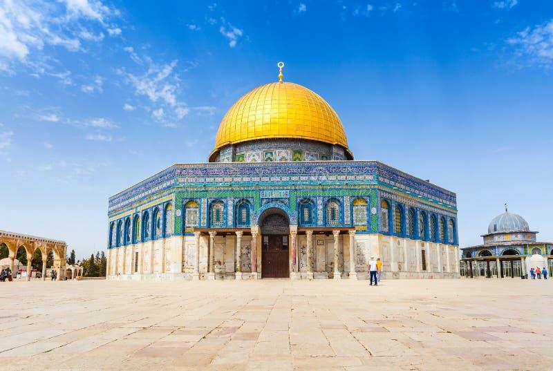 Kopuła skała na Świątynnej górze w Jerozolima, Izrael zdjęcie royalty free