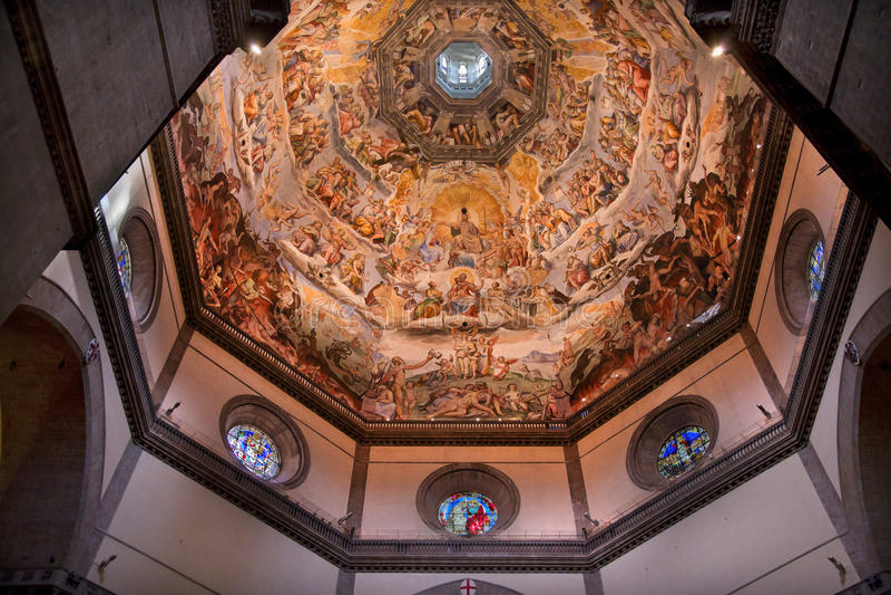 kopuły duomo Florence fresku Italy vasari fotografia royalty free