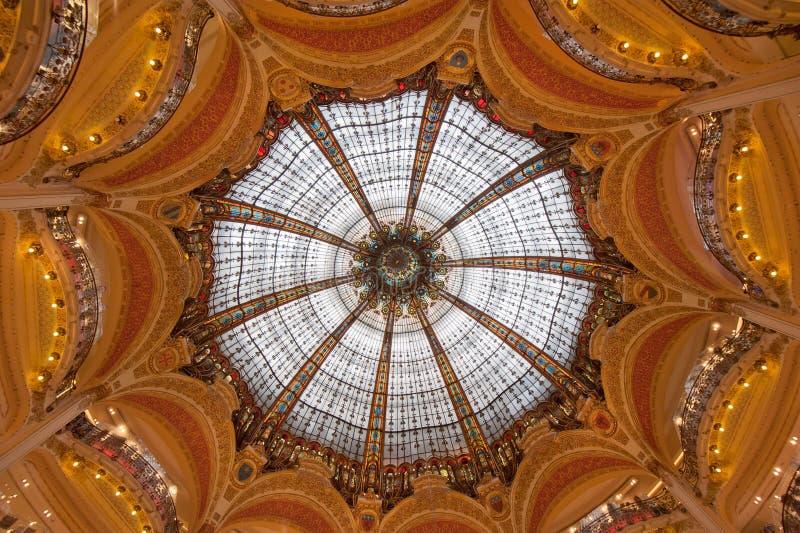 kopuły France galeries Lafayette Paris fotografia stock