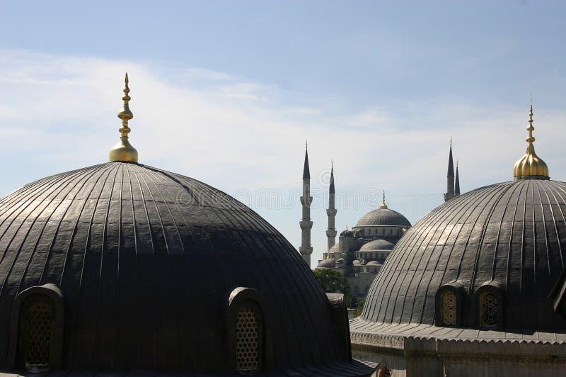 Kopuły i iglicy w Istanbuł zdjęcie royalty free