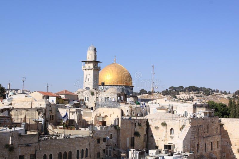 kopuły Jerusalem rockowy wschód słońca obraz royalty free