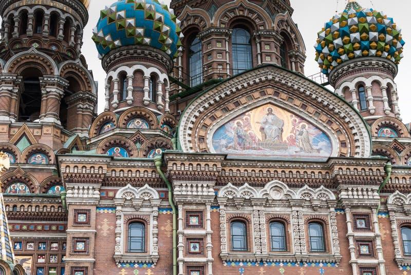 Kopuły Ortodoksalny kościół - wybawiciel na krwi w St Petersburg, Rosja obraz stock