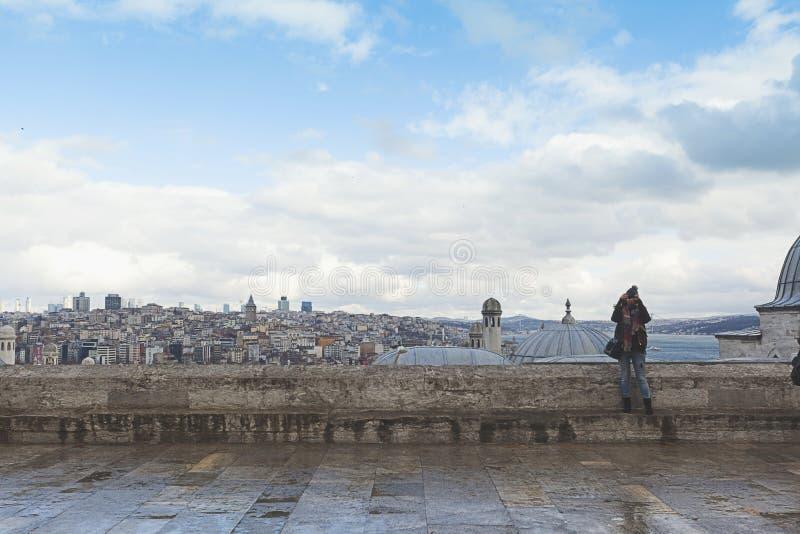 Kopuły Suleymaniye meczet zdjęcia royalty free