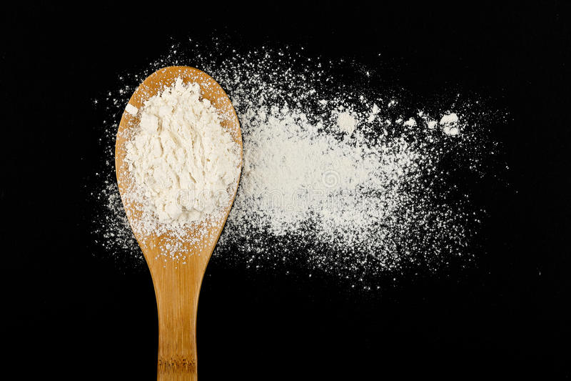 Kopyść z mąką obraz stock