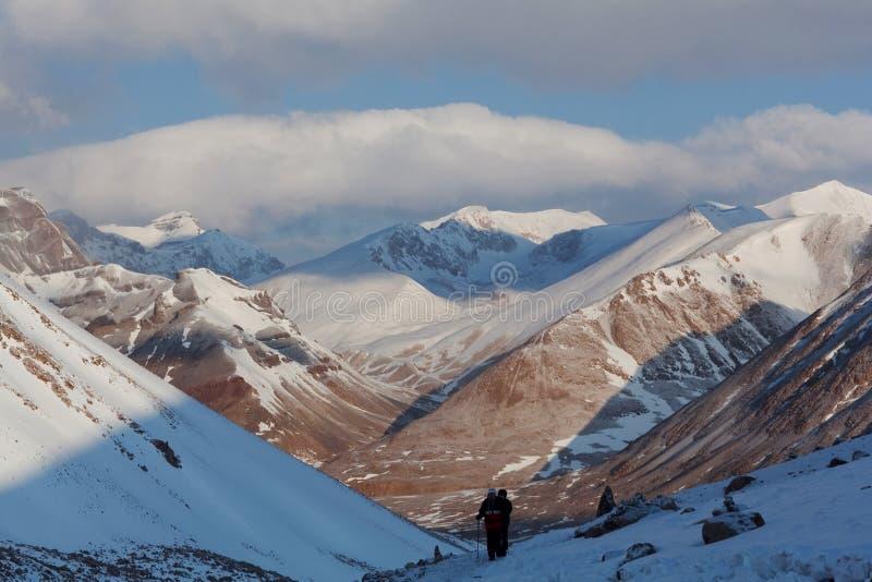Kora вокруг Kailash, Тибета стоковая фотография rf