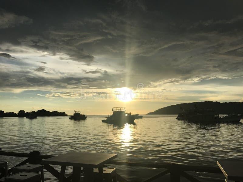 Kora Kinabalu Sunset fotos de archivo libres de regalías