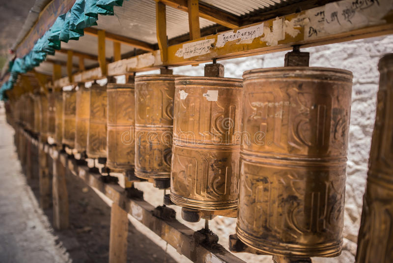 Kora Prayer wheels stock image