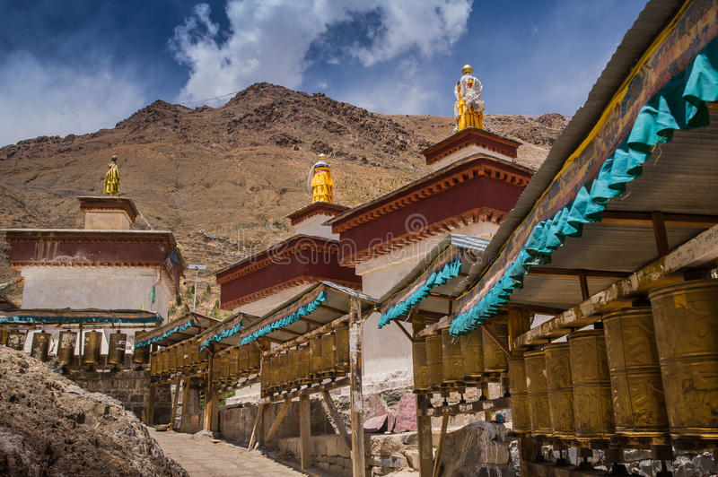 Kora Prayer wheels stock images